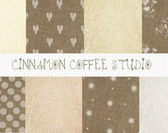 Natural Burlap Texture, Sweet Eco-Friendly Linen Backgrounds, Linen Texture, Cute Burlap Digital Papers