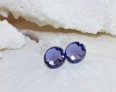 Crystal Stud Earrings Swarovski Crystal Earrings Purple Amethyst Earrings Stud Earrings Post Earrings Purple Earrings February Birthstone