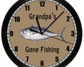 Personalized Fishing WALL CLOCK