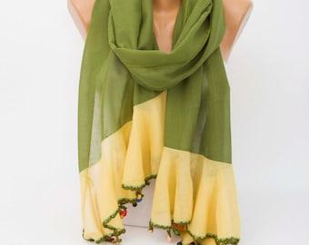 Summer scarf ,scarf ,oya scarf