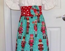 Nutcracker  Peasant Dress (12 mos, 18 mos, 2T, 3T, 4T, 5 ,6, 8)