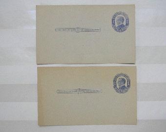 STAMP, 2 Antique Postal Card, One Cent, MCKINLEY, UX-21 Stamp