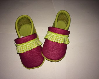 Soft Sole Baby leather shoes Little girl