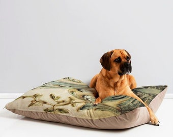 Trendy Pet Bed ~ Blue Lace Versailles, waterproof pet furniture, ultra plush cat bed, fur baby cushion, portable pet bed, Paris pet decor