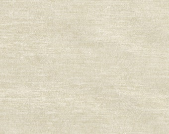 "Timeless Classic Chenille Upholstery Fabric - Durable - Washable - Soft hand - 56"" wide - Polyester/Viscose - Color:  Pearl - Per Yard"