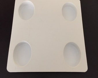 Soap mold(2): 4 Cavity Oval Soap Mold-Gently Used