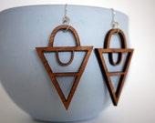Laser Cut Wood Arrow Earrings