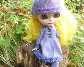 Blythe OOAK Coat, Pants, Blouse & Pixie Hat (BD97615)