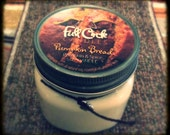 Pumpkin Bread Scented Soy Wax Candle - 8oz Jar Scented Candle
