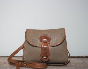 Vintage Dooney and Bourke Small Essex Bag in Taupe All Weather Leather