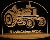 1954 Tractor AC WD45 Acrylic Lighted Edge Lit LED Farm Equipment Sign Full Size USA Original