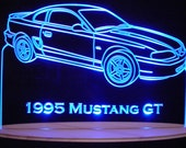 1995 Mustang GT Acrylic Lighted Edge Lit LED Sign Full Size 95 USA Original  VVD3