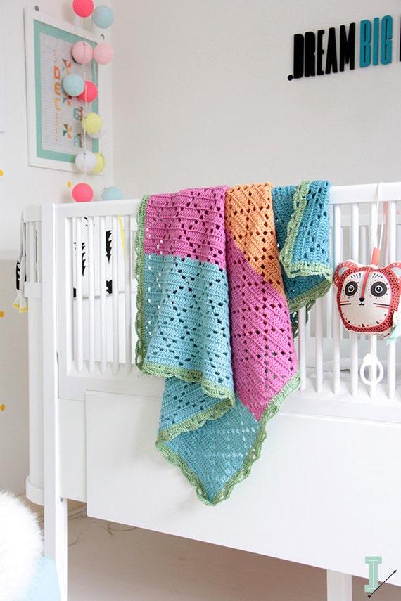 "Items similar to Filet crochet baby blanket ""Sicily"" --> 20% SALE"