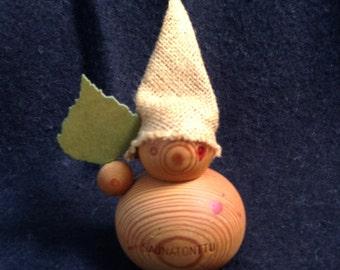 Aarikka Wood Elf Figure.  Made in Finland.  Vintage Mid century, Danish Modern, Eames, Kay Bojesen, Hans Bolling, Jensen  era.