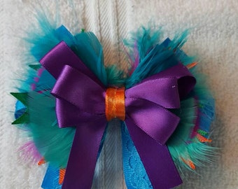 """5"""" Super Bold and Bright Stacked Boutique Bow"""