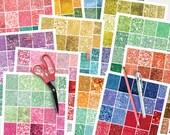 2016 Planner Stickers Printable, Glitter Planner Stickers, Monthly Planner Stickers, Printable Digital PDF JPG SVG