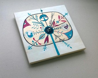 Love song moment - Handmade wall clock