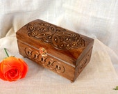 Personalized Jewelry box Wooden box Ring box Carved wood box gifts Jewellery box Wedding gifts schatulle Wooden jewelry box Jewelry boxes B1