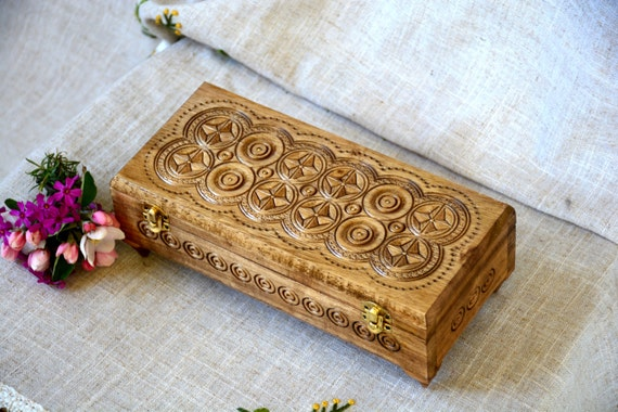Ring box Jewelry box Wooden box Carved wood box Wood box Wedding gifts Jewelry boxes Ring holder Jewellry holder box Wooden boxes B36
