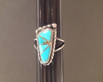 Funky Foot Turquoise and Sterling Ring artist signed