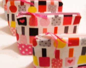 Nail Polish Zipper Pouch - Makeup Bag - Gift for Her