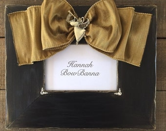 Christmas Frame Bow Jewel Holiday Personalize Baby Family Gift Christmas Decor