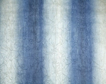 Retro Wallpaper by the Yard 70s Vintage Wallpaper – 1970s Indigo and Silver Stripes