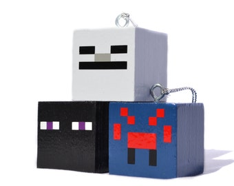 Personalized Block Game Ornaments - Set #1 Mobs
