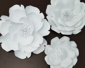 Large White Paper Flowers Extra Large Paper Flower Photo Prop Backdrop Decor Special DIY Backdrop
