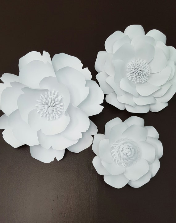 Large White Paper Flowers Extra Large Paper Flower Photo Prop