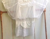 RESERVED FOR AMY romantic soft lace princess angel natural boho gypsy party shabby  tunic shirt blouse