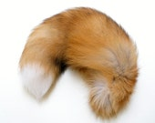 Blonde Brown White Fox Fluffy Long Fur Wolf Dog Tail Inumimi Kitsune Cosplay Furry Goth Fantasy Costume LARP Pet Play