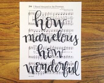 Hymn 8X10 Handlettered Print