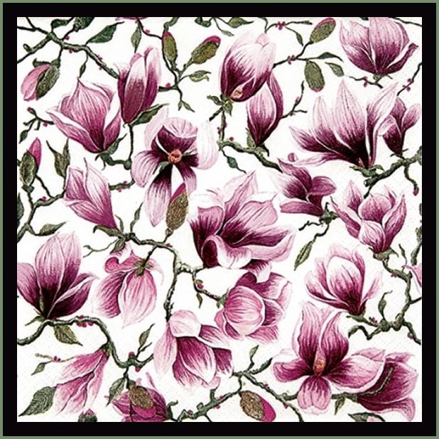 Magnolia Paper Napkins Use For Decoupage Mixed Media