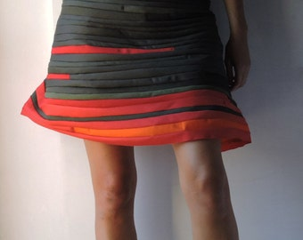 Skirt, red and green mix, cotton