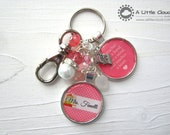 Teacher Keychain, Beaded Keychain, Teacher Gift, Personalized, Choose colours, End of Year teacher Gifts