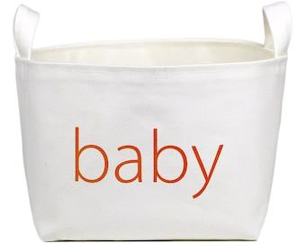 SALE! Baby White Storage Basket, Small