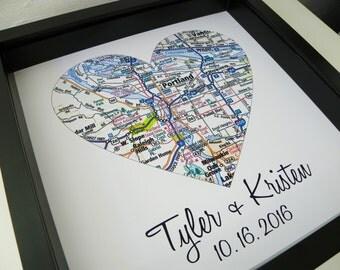 Wedding gift map | Etsy