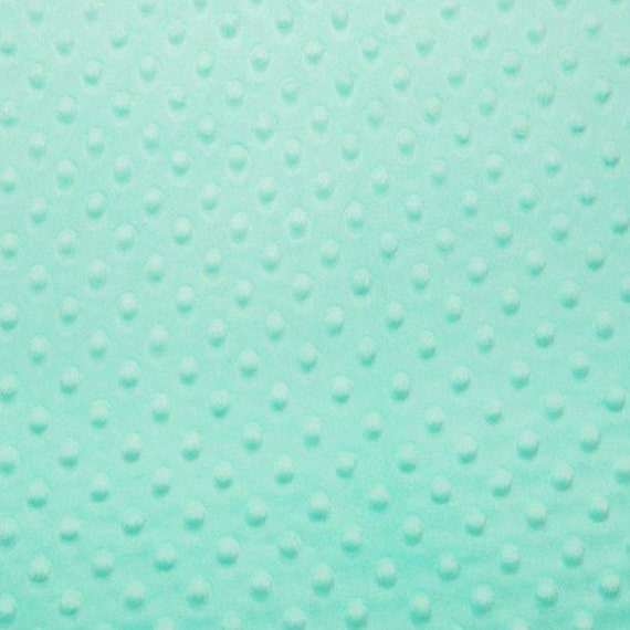 Aqua Minky Cuddle Dot Fabric/Aqua Dimple Dot Fabric/Aqua Minky Cuddle Fabric/Medium-Heavy Weight/Ultra Soft Minky Fabric/Sold By The YARD