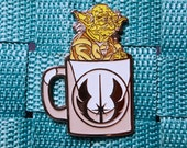 Limited Edition Cup of Yoda Star Wars Pin / Master Yoda / Star Wars Pin / Lapel Pin / Hat Pin by Tom Ryan's Studio