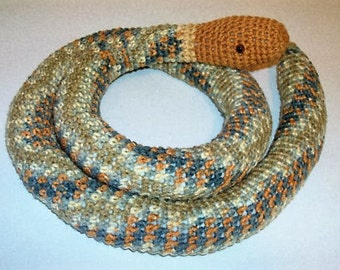 Amigurumi Snake -Crochet Snake in Browns and Grays