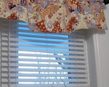 Window Valance Decorative  Linen Curtain Window Topper Handmade in the USA
