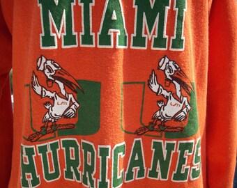 University of Miami Hurricanes Sweatshirt