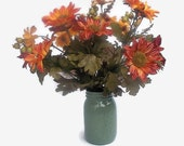 Fall Floral Arramgement, Rust Florals, Centerpiece, Home Decor, Home Accents, Rust And Orange Sunflowers, Sunflower Arrangement