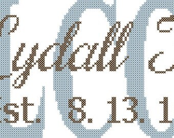 Welcome Cross Stitch Pattern/family Name Cross Stitch Pattern/Modern Cross Stitch/Counted Cross Stitch/Cross Stitch Name/Name X-Stitch