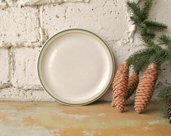 Vintage Shenango China, 10 1/4 Inch 1950 Restaurant Ware Plate, Orange Mint Green Stripe