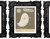 Halloween Print Set - Werewolf, Ghost and Witch - One Print FREE - Illustration Prints