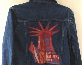 Dave Matthews band patch on denim jacket
