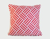 Coral Geometric Pillow Covers. One cover for 18x18 pillow insert. Geometric mod modern colorful sofa pillow nursery decor gift for teen