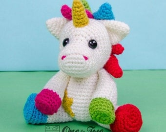 Nuru the Unicorn Amigurumi - PDF Crochet Pattern - Instant Download - Amigurumi crochet Cuddy Stuff Plush